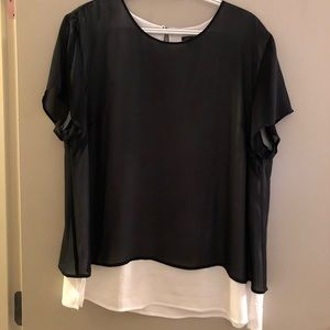 Ann Taylor double layer top